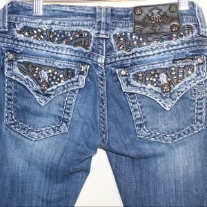 Miss Me Skinny Jeans Size 27 Beaded Flap Pockets